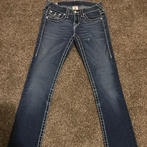 24 TRUE RELIGION Disco Billy Big T Crystal Jeans